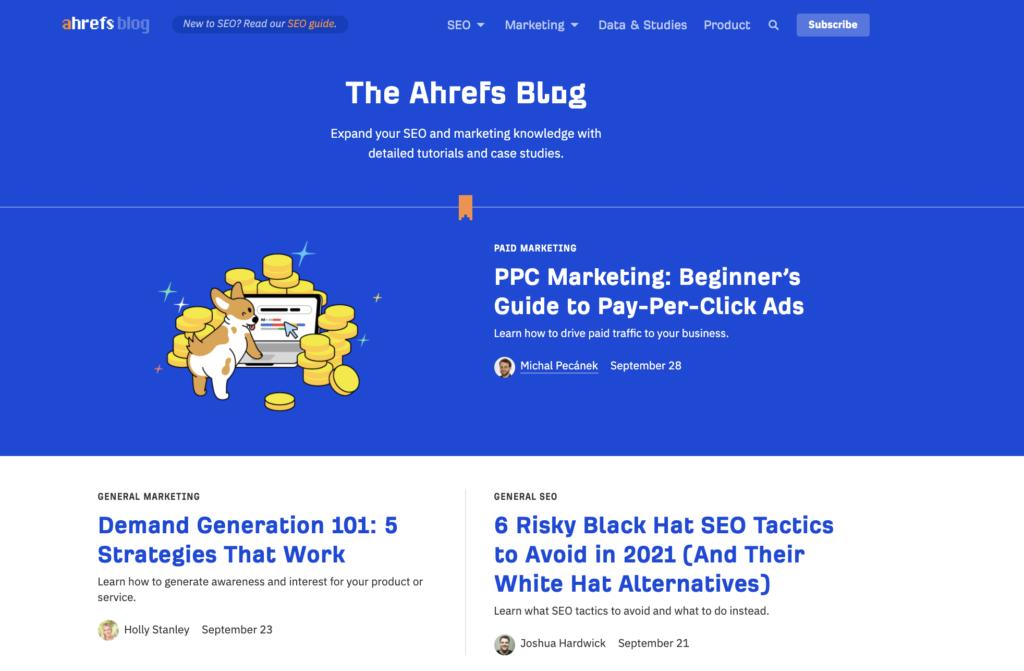 ahrefs seo blog